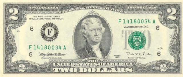2 dólares